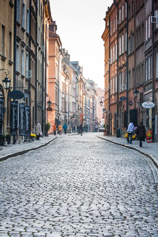 Street and Facade of Warsaw