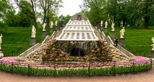 Chess Hill or Dragon Hill Cascade at Peterhof Palace, St. Petersburg