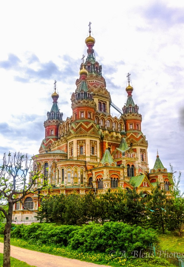 The Peter and Paul Cathedral in Peterhof, St. Petersburg.