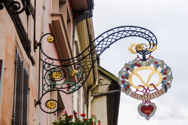 Artistic Wrought-Iron Sign, Colmar France