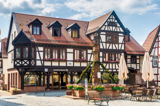 Main Market Square, Michelstadt, Germany