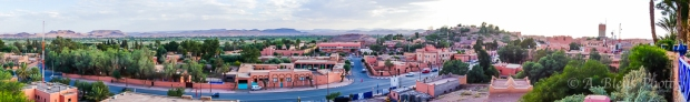 Panoramic View of the City of Ouarzazate, Morocco