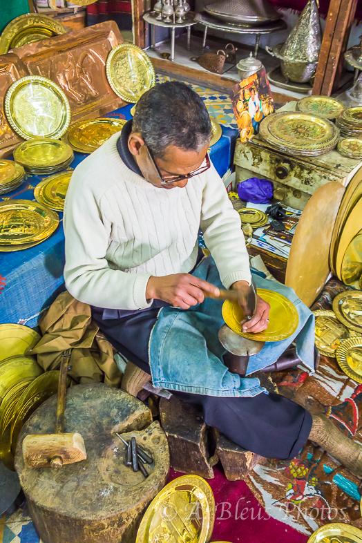 Artisan at work, Casablanca, Morocco
