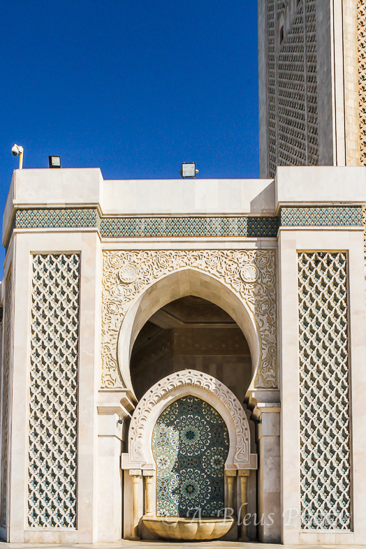 Fountain in Hassan II Mosque, Casablanca, Morocco