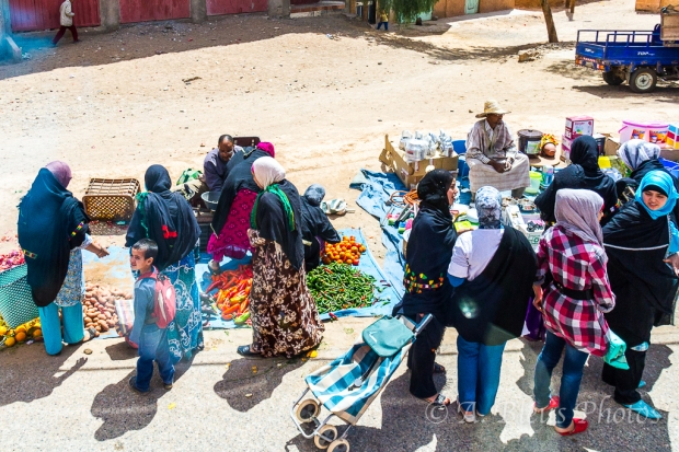 Moroccan Women at a Street Market