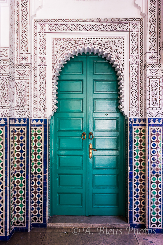 Office Door of Mahkama du Pacha, Casablanca, Morocco