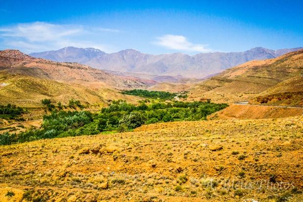 Panoramic View of Atlas Mountains, Morocco