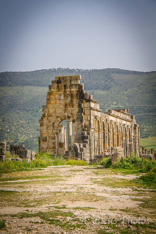 Roman Ruins at Archaeological Site of Volubilis, Morocco