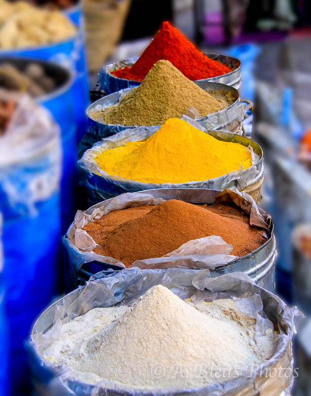 Spices from the Kasbah, Marrakesh Morocco