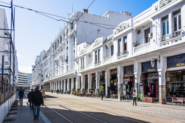 Street & White Building, Casablanca, Morocco