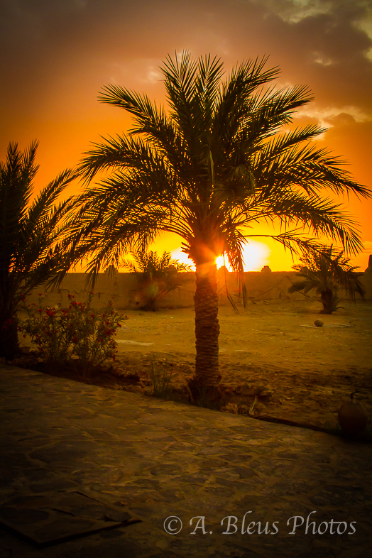 Sunset in Erfoud, Morocco