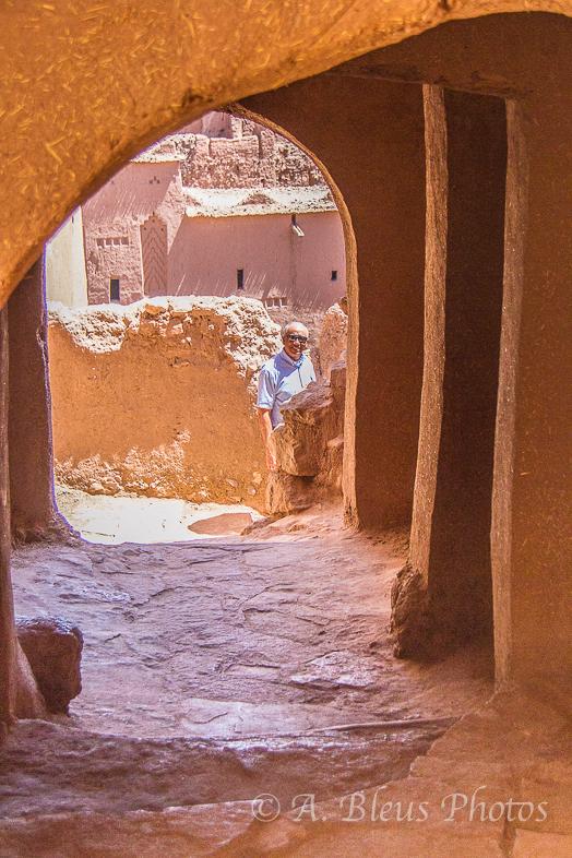Walkway inside a Moroccan Kasbah, Morocco_3168