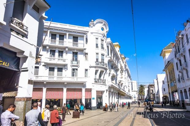 White Buildings & Street_0532, Casablanca, Morocco