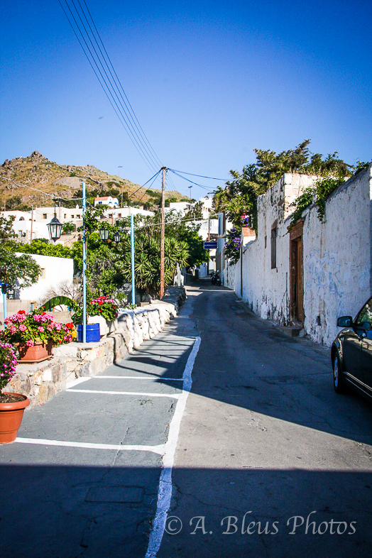 Local Street in Patmos, Greece