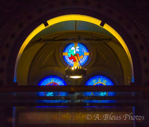 Chapelle Notre-Dame-de Lourdes Blue Glass Window, Montreal