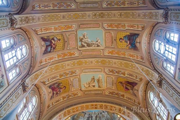 Chapelle Notre-Dame-de Lourdes Ceiling, Montreal, Canada