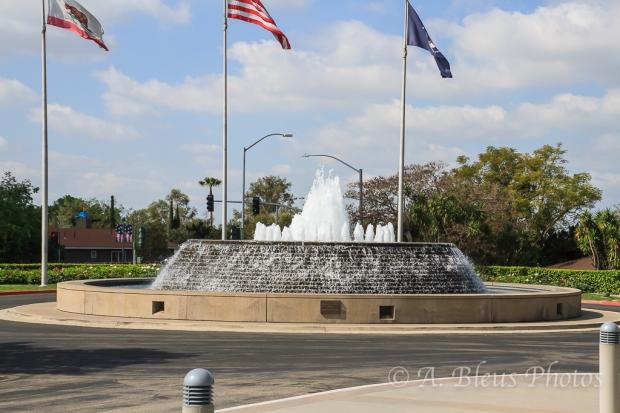 Fountain on ground of R. Nixon Library, Yorba Linda,_