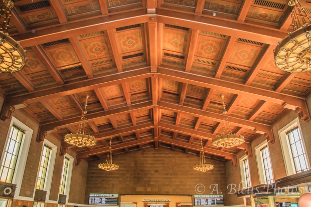 Union Station Wood Ceiling, Los Angeles, California