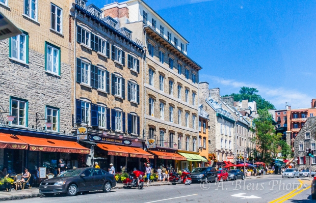 Main Busy Street, Quebec, Canada