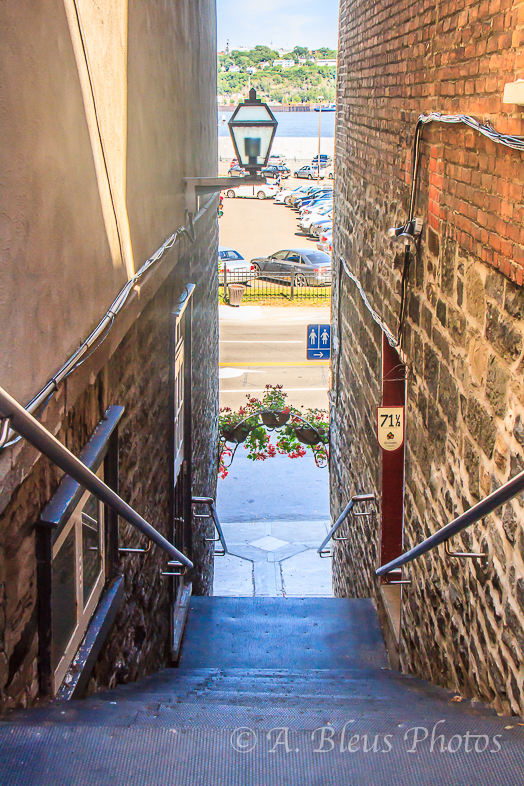 Stair Passageway Old Quebec City