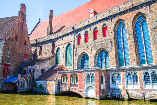 Big Structure on Canal in Brugge Belgium