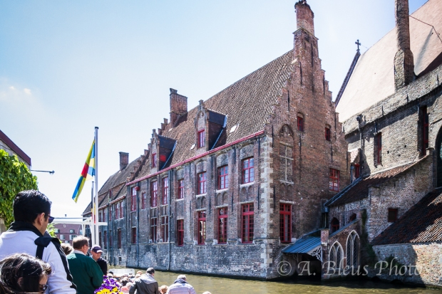 Big Structure on Canal in Brugge, Belgium