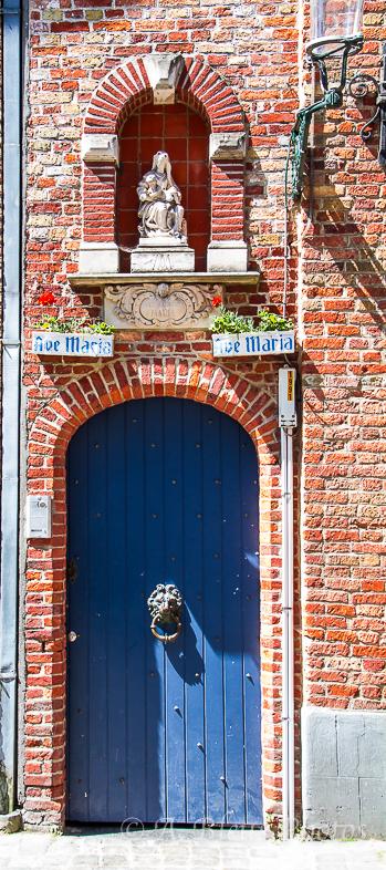 Blue Door, Brugge Belgium