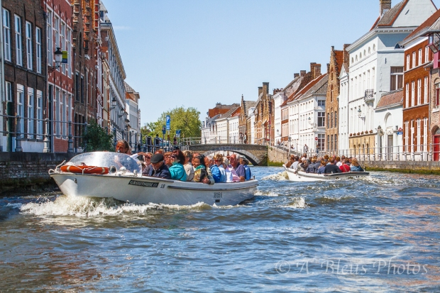 Boat Rides of Canal in Brugge, Belgium