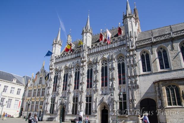 Building on Market Square in Brugge, Belgium