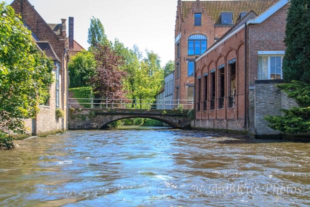 Canal & Bridge in Brugge, Belgium