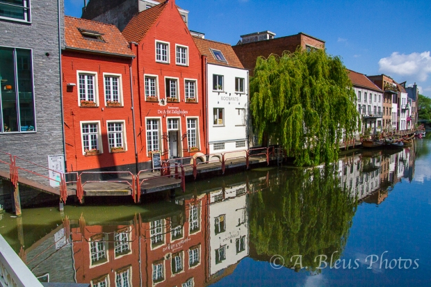 Colorful Building Façades Reflections, Gent, Belgium