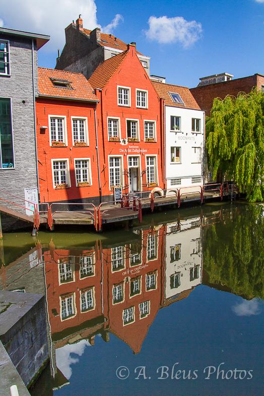 Colorful Building Reflections, Gent, Belgium