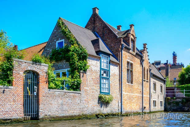House on Canal in Brugge, Belgium