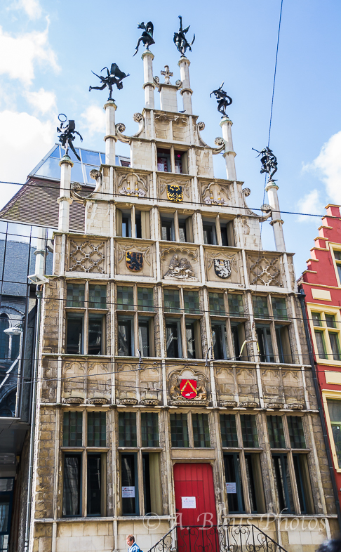 Interesting Façade Building, Ghent Belgium