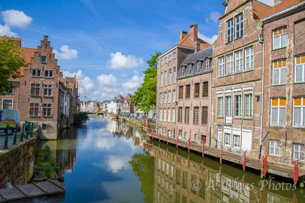 More Colorful Building Façades Reflections, Gent, Belgium
