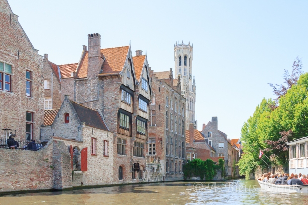 More Houses along the Canal in Brugge, Belgium