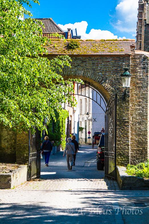 Pedestrian Walkway in Bruges, Belgium