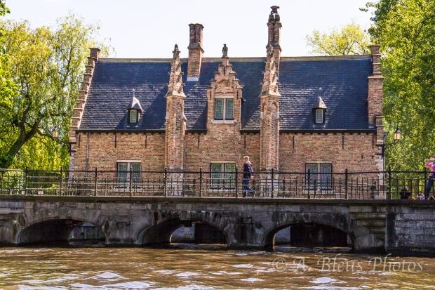 Red Brick House in Brugge, Belgium