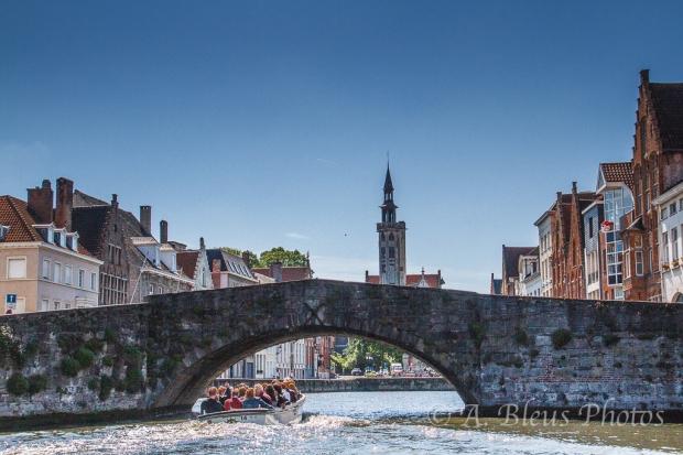 Under the Bridge in Brugge, Belgium