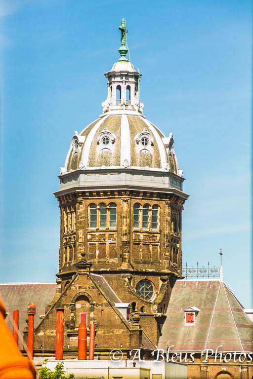 St. Nicholas Dome View from a Window, Amsterdam