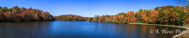 Panoramic view Lake & Fall Foliage North Carolina -IMG_9378