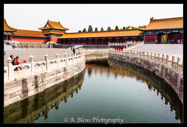 Mausoleum of Mao Zedong Courtyard, Bridge over Pond-2