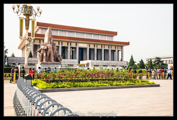 Monument in front of Mao's Mausoleum on Tiananmen Square-2