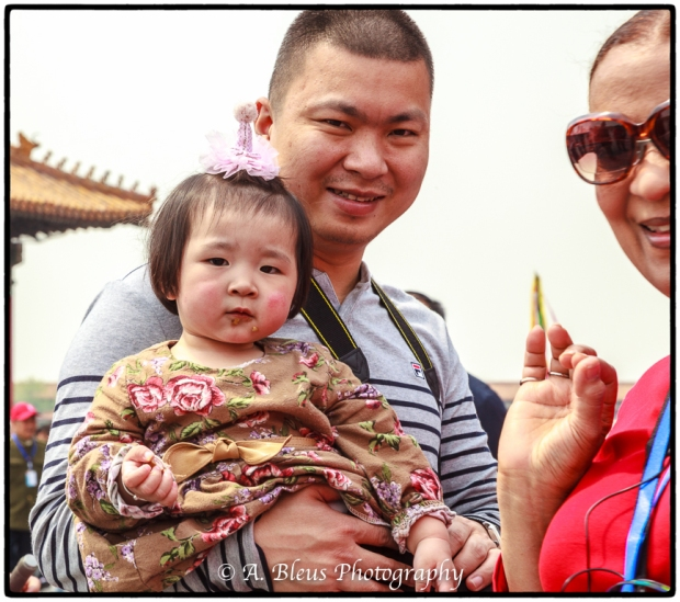 Portrait of Young Chinese Girl with her Dad- Forbidden City, Beijing-2