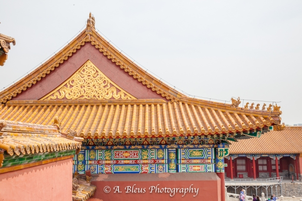 Wooden Structures Roof Close-up- Forbidden City, Beijing-2