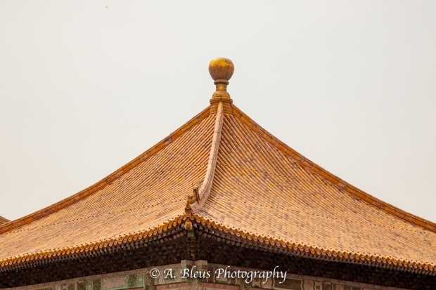 Wooden Structures Roof Close-up- Forbidden City, Beijing