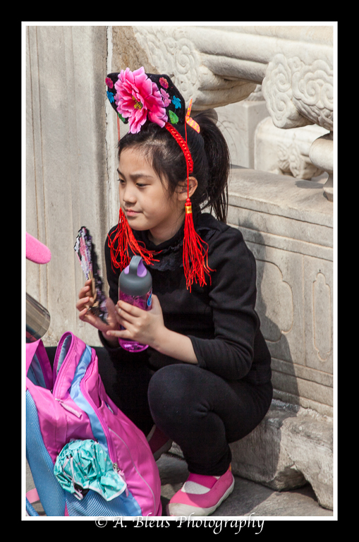Young Chinese Girl with Hat and Fan- Forbidden City, Beijing_-2