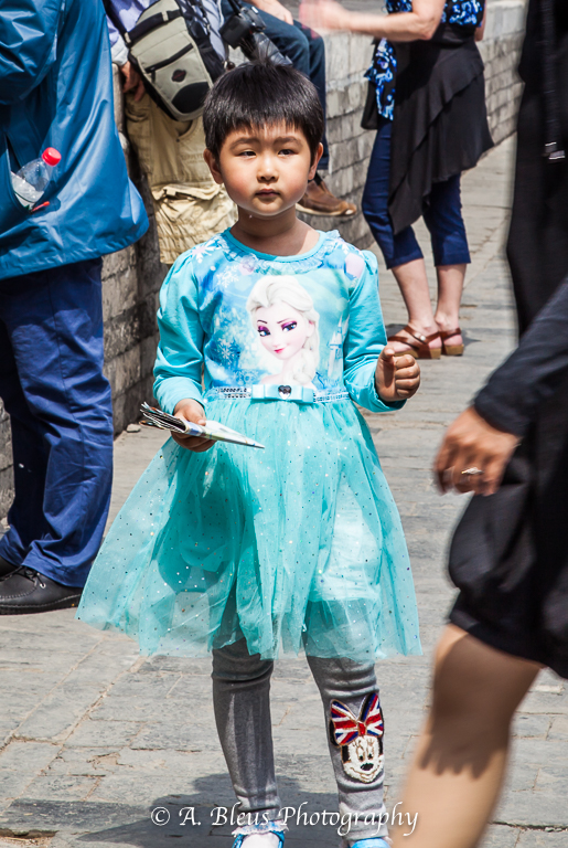 Young Girl with Blue outfit- Forbidden City, Beijing-2