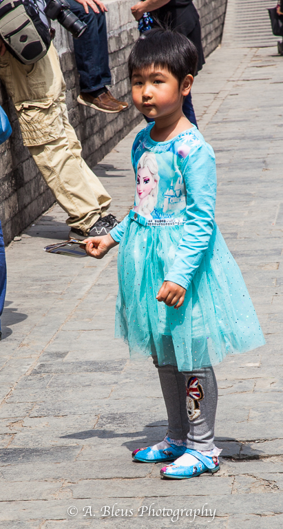 Young Girl with Blue outfit- Forbidden City, Beijing