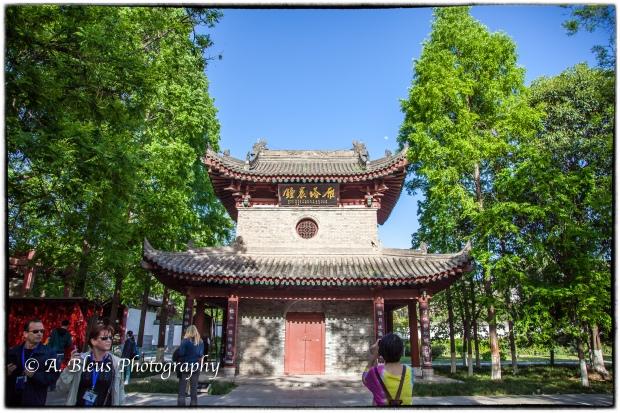 Buildings at Wild Goose Pagoda Park, Xian, China-2